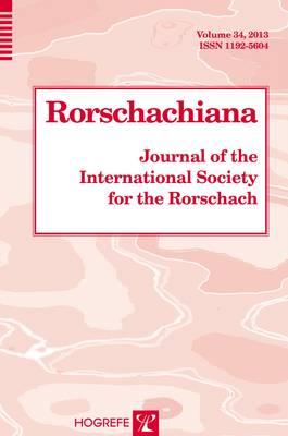 Rorschachiana Vol. 34: Journal of the International Society for the Rorschach (Hardback)