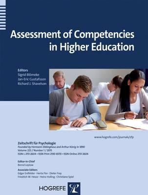 Assessment of Competencies in Higher Education - Zeitschrift fuer Psychologie (Paperback)