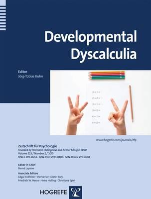 Developmental Dyscalculia 2015 - Zeitschrift fur Psychologie 2 (Paperback)