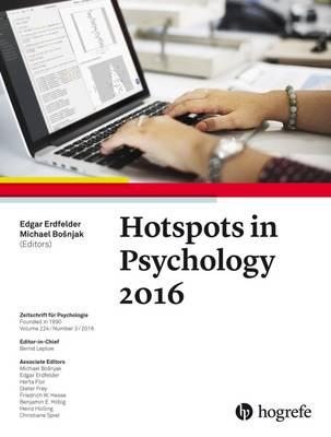 Hotspots in Psychology 2016 - Zeitschrift fuer Psychologie 3 (Paperback)