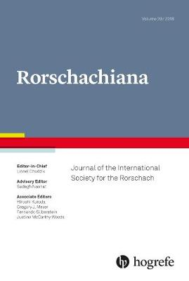 Rorschachiana 2018: 39: Journal of the International Society for the Rorschach, Vol. 39 /2018 - Yearbook of the International Rorschach Society 39 (Hardback)