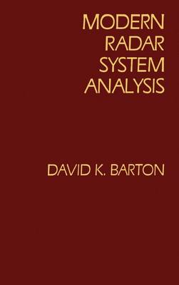 Modern Radar System Analysis - Radar Library (Hardback)
