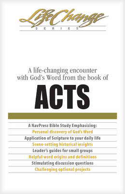 Acts - Bibles/Bible study - Life change series (Paperback)