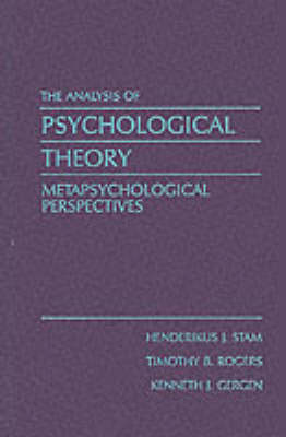 The Analysis of Psychological Theory: Metapsychological Perspectives (Paperback)