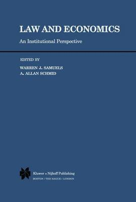 Law and Economics: An Institutional Perspective (Hardback)
