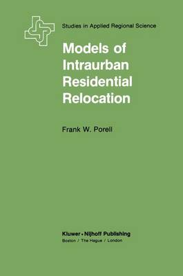 Models of Intraurban Residential Relocation - The Plenum Behavior Therapy Series (Hardback)
