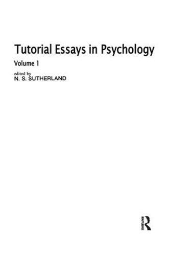 Tutorial Essays in Psychology: Volume 1 (Hardback)