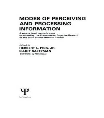Modes of Perceiving and Processing Information (Hardback)