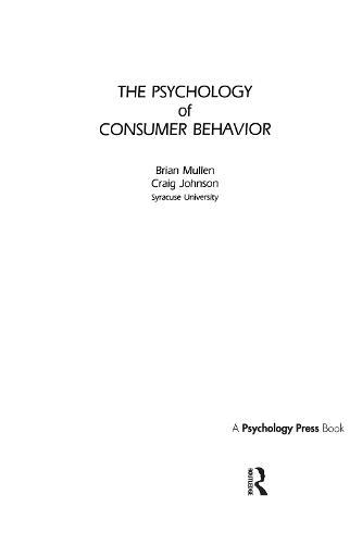 The Psychology of Consumer Behavior (Hardback)
