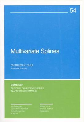 Multivariate Splines - CBMS-NSF Regional Conference Series 54 (Paperback)