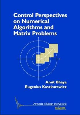 Control Perspectives on Numerical Algorithms and Matrix Problems - Advances in Design and Control No. 10 (Paperback)