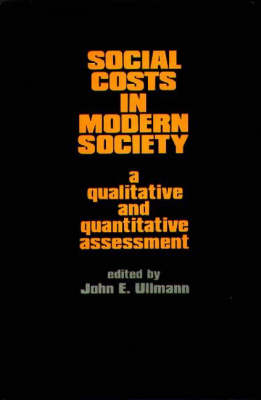 Social Costs in Modern Society: A Qualitative and Quantitative Assessment (Hardback)
