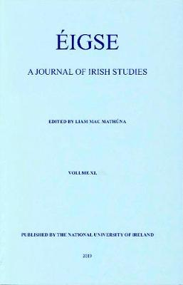 Eigse: 40: A Journal of Irish Studies (Paperback)