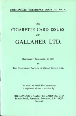 Cigarette Card Issues of Gallaher Ltd. (Paperback)