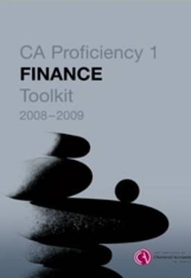 Finance Toolkit: CA Proficiency 1 (Paperback)