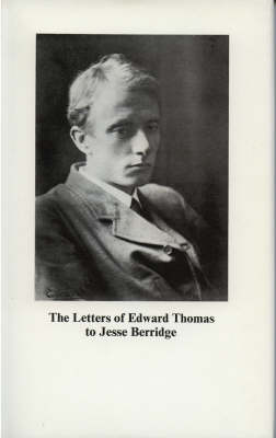 Letters to Jesse Berridge (Hardback)