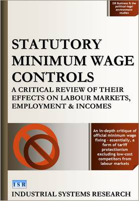 Statutory Minimum Wage Controls: A Critical Review of Their Effects on Labour Markets, Employment and Incomes - ISR Business & the Political-Legal Environment Reports S. 1 (Hardback)