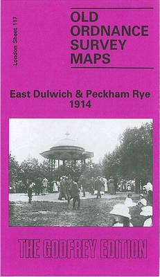 East Dulwich and Peckham Rye 1914: London Sheet 117.3 - Old O.S. Maps of London (Sheet map, folded)