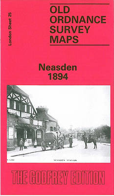 Neasden 1894: London Sheet   025.2 - Old O.S. Maps of London (Sheet map, folded)