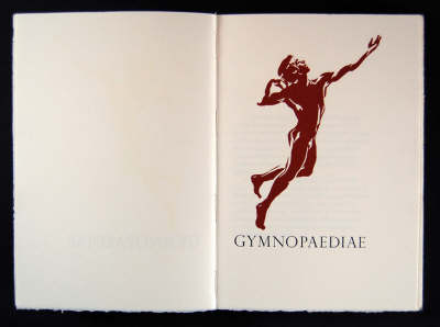 Gymnopaediae (Leather / fine binding)