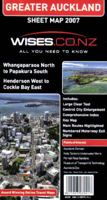 Greater Auckland Map: With Central Auckland Enlargment (Paperback)