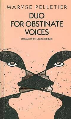 Duo for Obstinate Voices (Paperback)