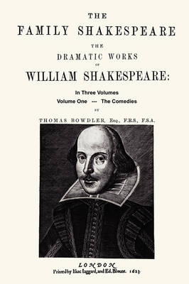 The Family Shakespeare, Volume One, The Comedies (Paperback)