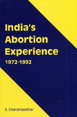 India's Abortion Experience (Paperback)
