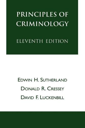 Principles of Criminology - The Reynolds Series in Sociology (Paperback)