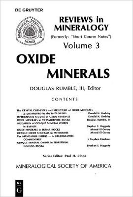 Oxide Minerals - Reviews in Mineralogy & Geochemistry 3 (Paperback)