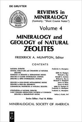 Mineralogy and Geology of Natural Zeolites - Reviews in Mineralogy & Geochemistry 4 (Paperback)