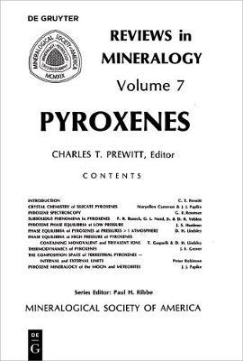 Pyroxenes - Reviews in Mineralogy & Geochemistry 7 (Paperback)