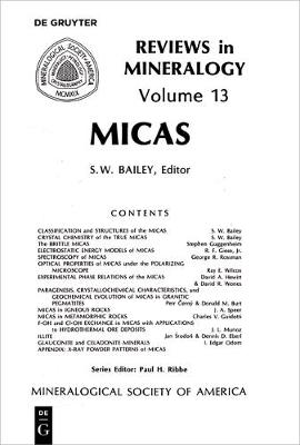 Micas - Reviews in Mineralogy & Geochemistry 13 (Paperback)