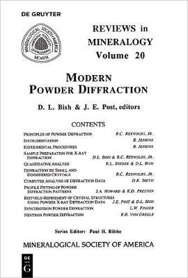 Modern Powder Diffraction - Reviews in Mineralogy & Geochemistry 20 (Paperback)