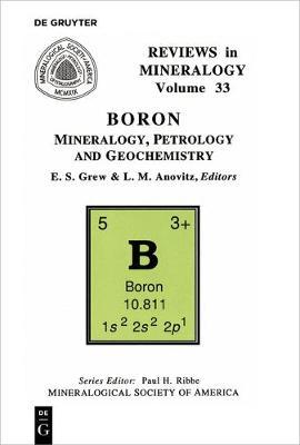 Boron - Reviews in Mineralogy & Geochemistry 33 (Paperback)