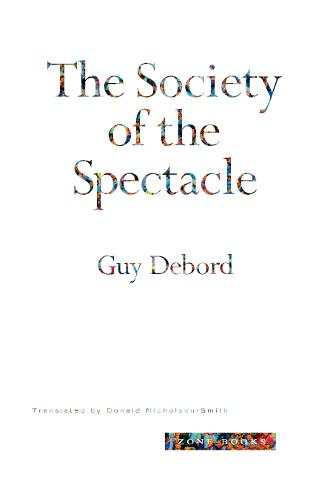 The Society of the Spectacle - Zone Books (Paperback)