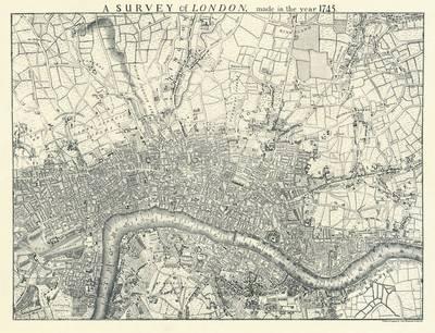 London 1745 (facsimile) (Sheet map, flat)