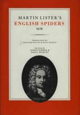 Martin Lister's English Spiders, 1678 (Hardback)
