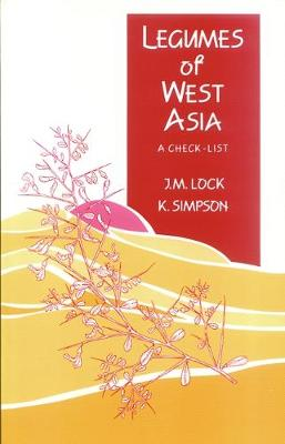 Legumes of West Asia: A Checklist (Paperback)