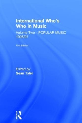 Intl Whos Who Popular Music E1 (Hardback)