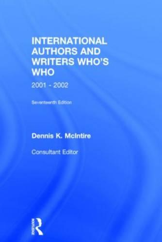 International Authors and Writers Who's Who (Hardback)