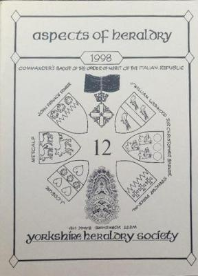 The Journal of the Yorkshire Heraldry Society 1998 - Aspects of Heraldry No. 12 (Paperback)