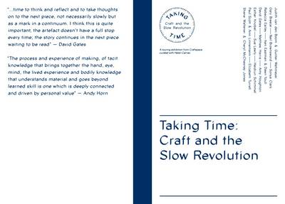 Taking Time: Craft and the Slow Revolution (Paperback)