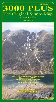 3000 Plus - the Original Munro Map: The Original Munro Map (Sheet map, folded)