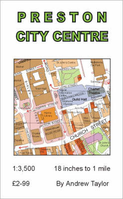 Preston City Centre Map-flat (Sheet map, folded)