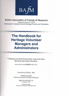 The Handbook for Heritage Volunteer Managers and Administrators (Spiral bound)