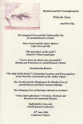 Bennett and His Contemporaries, Writhe the Town and the City