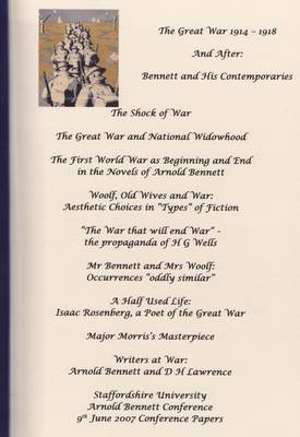 The Great Ware 1914 1918 and After: Bennett and His Contemporaries