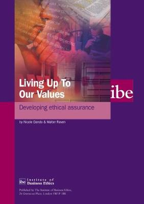 Living Up to Our Values: Developing Ethical Assurance (Paperback)
