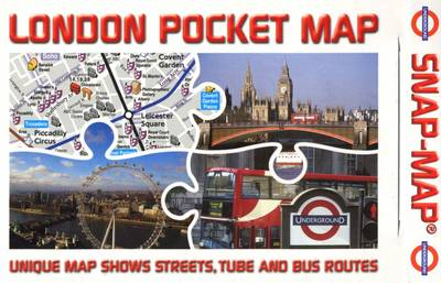London Pocket Map: Overground/Underground Map Unique Map Shows Streets, Tube, Rail and Bus Routes (Paperback)